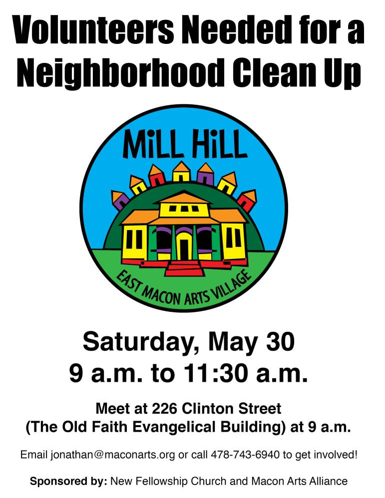 Mill Hill clean-up flyer