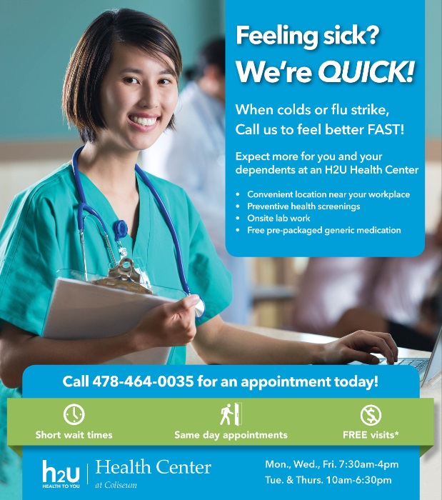 H2U Health Center_Sept poster