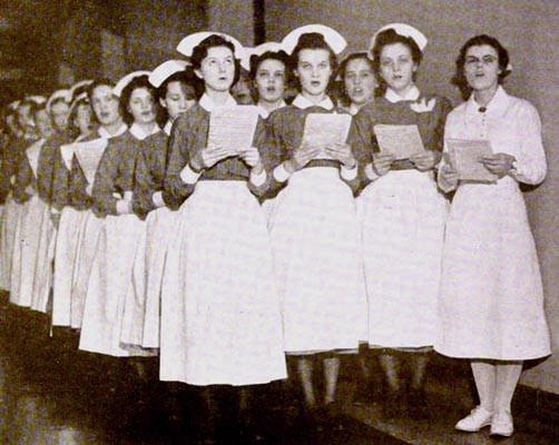 caroling nurses