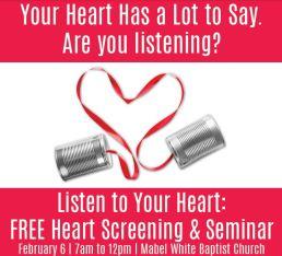 Listen to Your Heart seminar