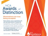 2015 HCA Awards of DistinctionNominations