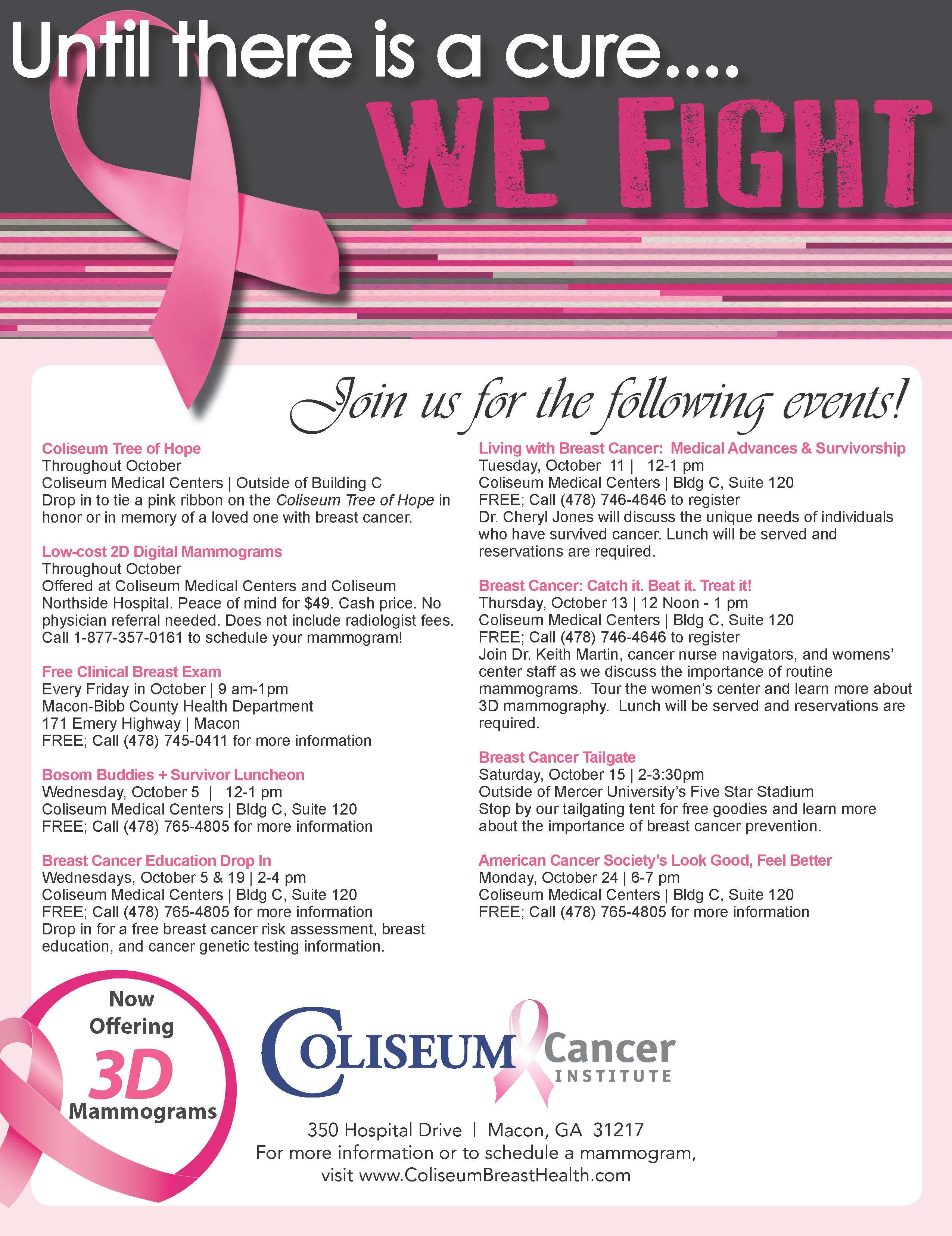 Breast cancer awareness month pamphlet