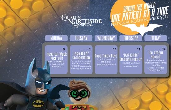 2017 CNH Hospital Week calendar