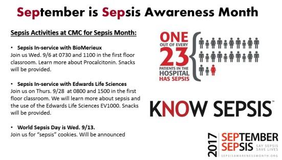 sepsis schedule
