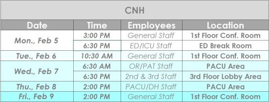 CNH Jan+Feb 2018 Town Hall schedule
