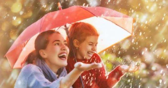 mother in rain