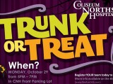 """Join us to """"Trunk orTreat!"""""""